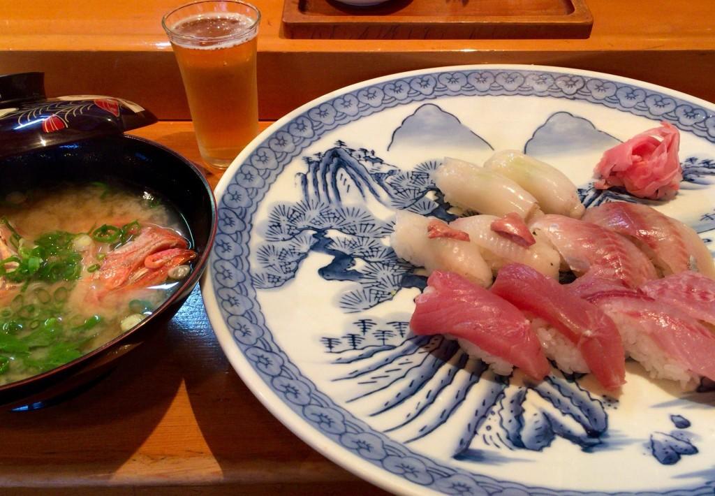 真鶴 地魚にぎり 五種十貫